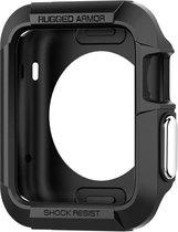 Spigen - Case voor Apple Watch 1 42mm - Siliconen Rugged Armor Zwart