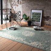 Vintage Vloerkleed - 70 x 140 cm - Groen