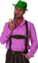 Oktoberfest Tiroler blouse roze man Maat 48