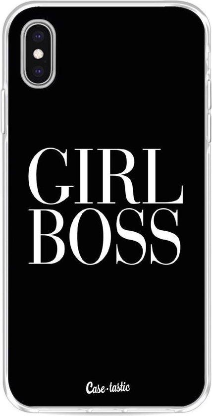Casetastic Apple iPhone XS Max Hoesje - Softcover Hoesje met Design - Girl Boss Print