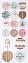 Stickers. indianen. 10x23 cm. 1 vel