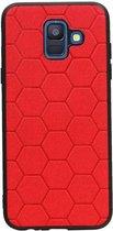 Wicked Narwal | Hexagon Hard Case voor Samsung Samsung Galaxy A6 2018 Rood