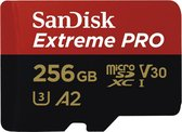 Sandisk Extreme Pro Micro SDXC 256GB - A2 V30 - met adapter