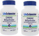 DMAE Bitartrate (dimethylaminoethanol), 150 Mg 200 Vegetarian Capsules, 2-pack