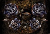 Fotobehang Alchemy Roses Tattoo   PANORAMIC - 250cm x 104cm   130g/m2 Vlies