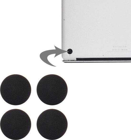 4 PCS for Macbook Pro Retina 13.3 inch & 15.4 inch (2012-Early 2015) A1398 & A1425 & A1502 bodembehuizing Rubberen Voetjes (zwart)