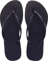 Havaianas Slim Dames Slippers - Black - Maat 33/34