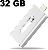 Flashdrive 32GB voor Apple/IOS lightning connector. Flash Drive 32GB (ipad / iphone / ipod), zilver , merk i12Cover