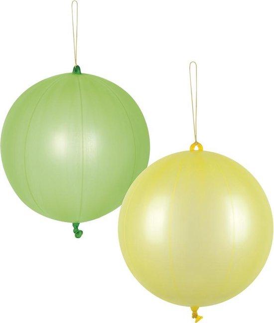 Boland Ballonnen Punch 52 Cm Latex Groen/geel 2 Stuks