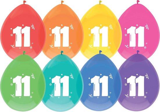 """Haza Original Ballonnen Met Opdruk """"11"""" 30 Cm 8 Stuks"""