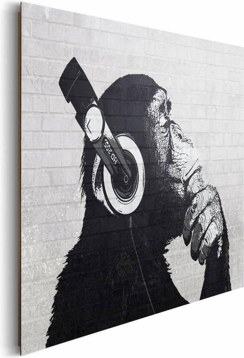 Schilderij Aap met koptelefoon - Reinders