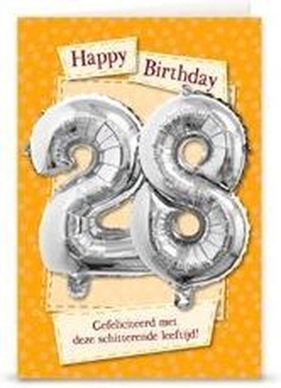 Miko - Kaart - Leeftijdballon - 28 Jaar