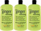 Treaclemoon Bad en Douchegel One Ginger Morning - 3x500 ml - Voordeelverpakking