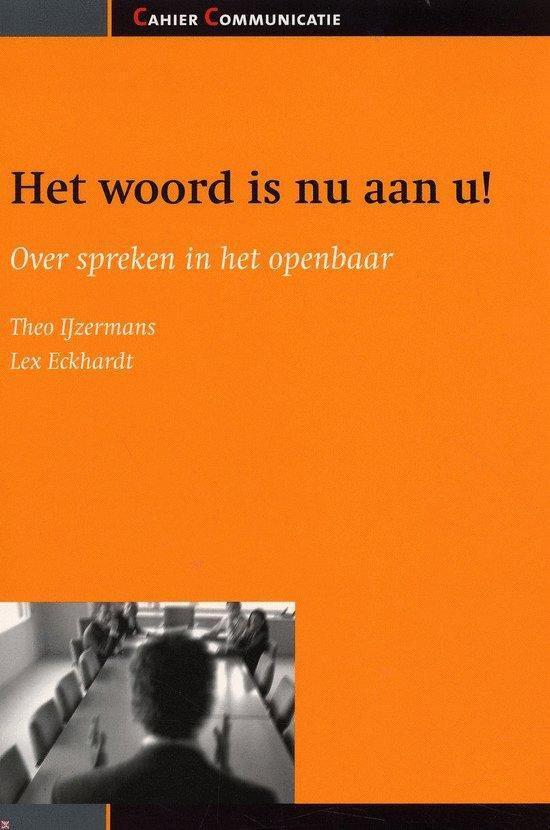 Cover van het boek 'Het woord is nu aan u'