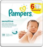 Pampers Sensitive - Babydoekjes - 6 x 56 stuks