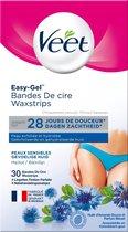 Veet Easy-Gelwax Ontharingsstrips Bikini - Gevoelige Huid - 30 stuks