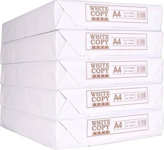 Afbeelding van Printpapier White label A4 75 gram 5 pakken met 500 vellen