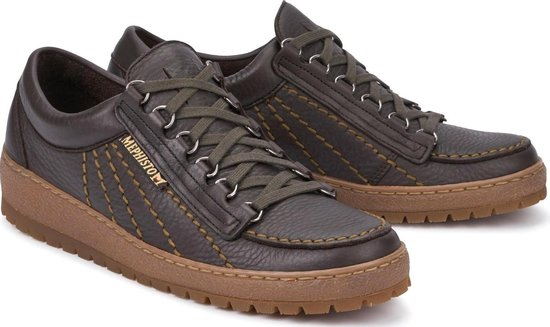 Mephisto Rainbow Oregon heren veterschoen - donkerbruin 46