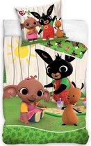Bing Bunny Dekbedovertrek Picnic - Eenpersoons - 140  x 200 cm + 60 x 70 cm - Katoen