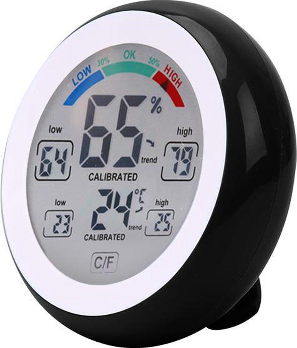 Tool Meister WS1 - Hygrometer en Temperatuurmeter - Weerstation - 2 in 1 - Kleur LCD - Touch screen
