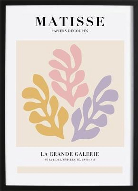 Matisse I Poster (21x29,7cm) - Wallified - Tekst - Zwart Wit - Poster - Wall-Art - Woondecoratie - Kunst - Posters