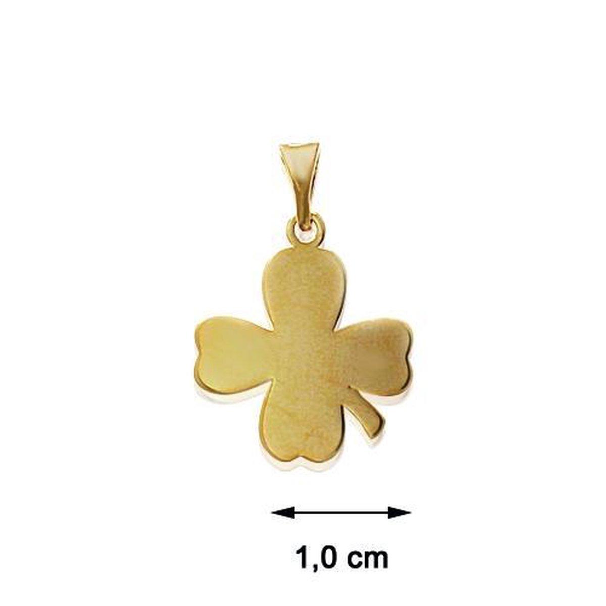 Blinx Jewels Vergulden Hanger Klaver
