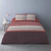 Luxe Flanel dekbedovertrek Lits-Jumeaux 240 x 220 cm Mistral Rouge