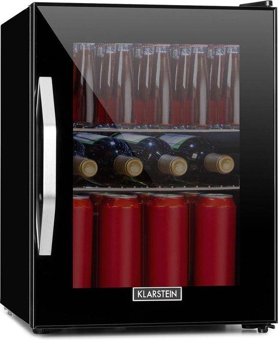 Horeca koelkast: Klarstein Beersafe M Onyx Horeca koelkast - Drankkoelkast 35 liter - 5 koelniveaus voor temperaturen van 0 tot 10 °C - Zwart, van het merk Klarstein