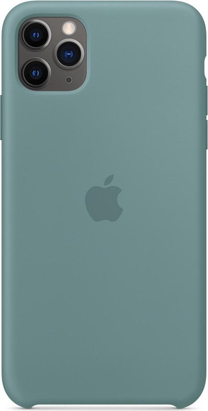 Apple Silicone Backcover iPhone 11 Pro Max hoesje - Cactus Groen
