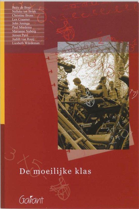 Boek cover Cahiers Speciale Onderwijszorg 4 -   De moeilijke klas van Berna de Boer (Paperback)