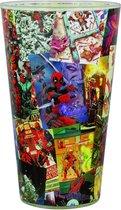 Marvel Drinkglas Deadpool 300 Ml Glas Transparant