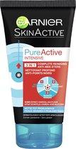 Garnier SkinActive PureActive 3-in-1 Masker met Charcoal - 150 ml