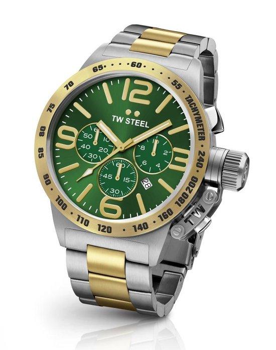 TW Steel CB63 Canteen Bracelet Collection – Horloge – Staal – 45 mm – Zilverkleurig