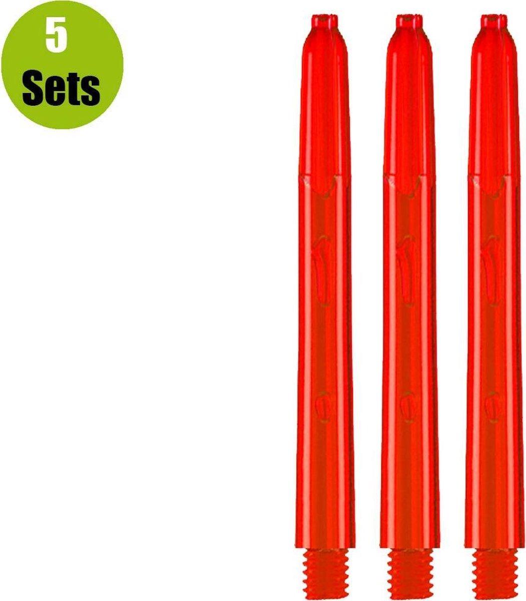 Glow Dart Shafts - Rood - Short - (5 Sets)