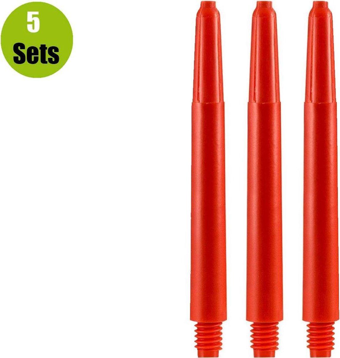 Nylon Dart Shafts - Rood - Short - (5 Sets)