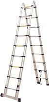 Telescoop telescopische Ladder Inklapbaar - Werkhoogte 5,60 m