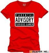 FOR GAMING - T-Shirt PARENTAL ADVISORY - (XXL)