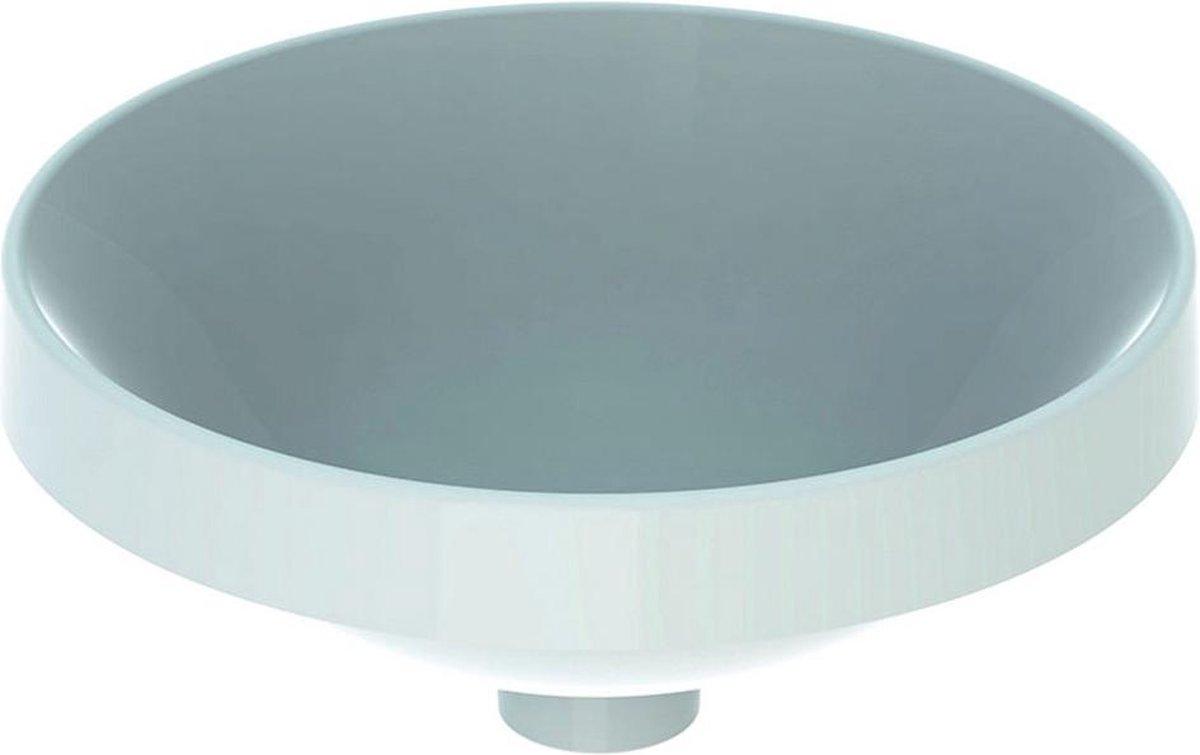 Geberit VariForm opbouwwastafel rond 40 cm zonder overloop, wit