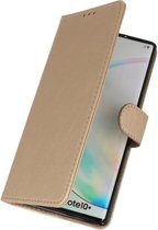 Wicked Narwal | bookstyle / book case/ wallet case Wallet Cases Hoes voor Samsung Samsung Galaxy Note 10 Plus Goud