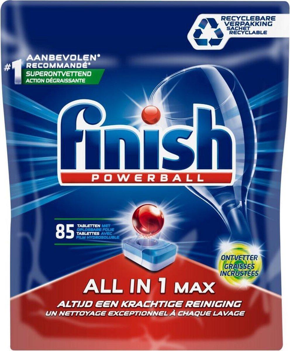 Finish All in 1 Max Ontvetter Vaatwastabletten - Kwartaalpak - 85 Tabs