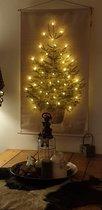 Kerstboom op canvas doek inclusief verlichting L (