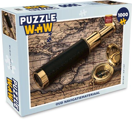 Puzzel 1000 stukjes volwassenen Ouderwets navigatiemateriaal 1000 stukjes - Oud navigatiemateriaal  - PuzzleWow heeft +100000 puzzels