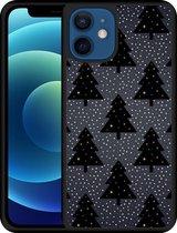 iPhone 12 Hardcase hoesje Snowy Christmas Trees