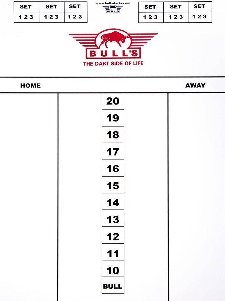 Bull's darttel flex 45x30cm