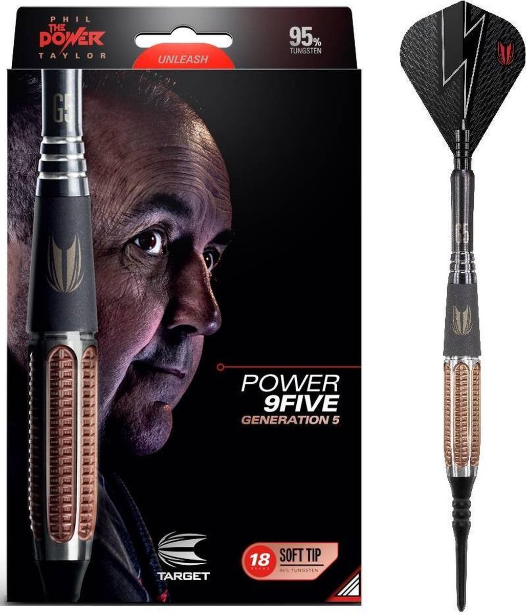 Phil Taylor Power 9FIVE Gen 5 95% Soft Tip - 20 Gram