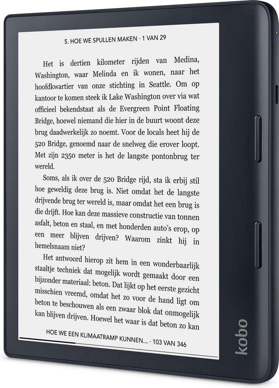 Kobo Sage - 8 inch - 32 GB - Bluetooth - Zwart