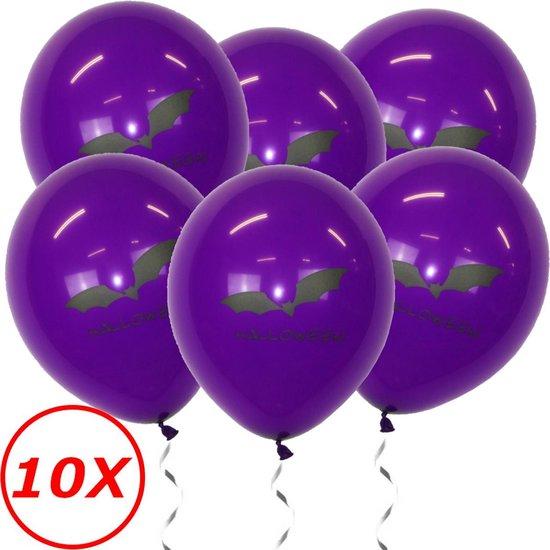 Halloween Versiering Decoratie Helium Ballonnen Feest Versiering Halloween Accessoires Ballon Paars Vleermuis – 10 Stuks
