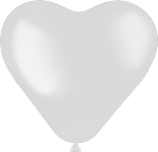Ballonnen Hartvorm Wit - 8 stuks