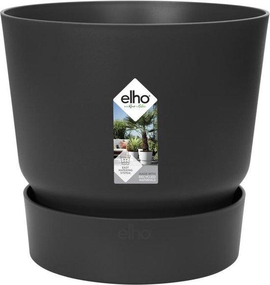 Elho Greenville Rond 30 - Bloempot - Living Black - Buiten - Ø 29.5 x H 27.8 cm