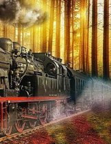 Train Notebook Large Size 8.5 x 11 Ruled 150 Pages Softcover